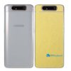Galaxy A80 Adesivo Skin Película Tras Metal Dourado