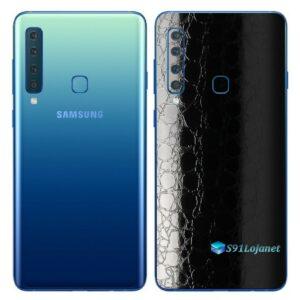 Galaxy A9 Adesivo Skin Película Traseira FX Couro Negro