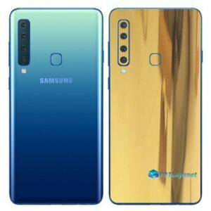 Galaxy A9 Adesivo Skin Película Traseira Metal Ouro Gold