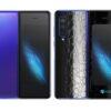 Galaxy Fold Adesivo Skin Película Tras FX Couro Negro