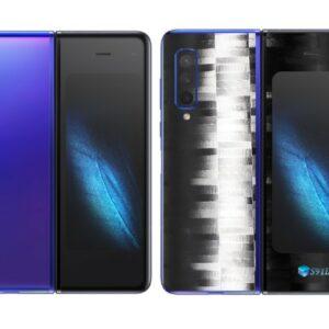 Galaxy Fold Adesivo Skin Película Tras FX Pixel Black