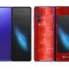 Galaxy Fold Adesivo Skin Película Tras FX Pixel Vermelho