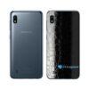 Galaxy M10 Adesivo Skin Película Tras FX Couro Negro