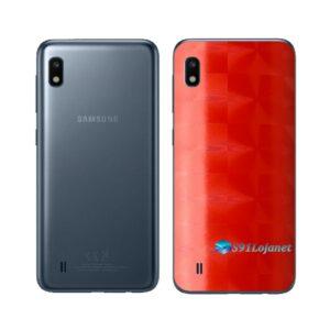 Galaxy M10 Adesivo Skin Película Tras FX Dimension Red