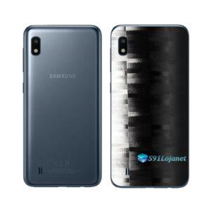 Galaxy M10 Adesivo Skin Película Tras FX Pixel Black