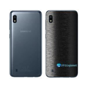Galaxy M10 Adesivo Skin Película Tras FX Preto Escovado