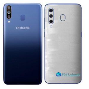 Galaxy M30 Adesivo Skin Película Tras FX Pixel Branco