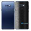 Galaxy Note9 Adesivo Skin Película Tras FX Preto Escovado