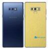 Galaxy Note9 Adesivo Skin Película Tras Metal Dourado
