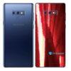 Galaxy Note9 Adesivo Skin Película Tras Metal Gold Red