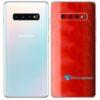 Galaxy S10 5G Adesivo Skin Película Tras FX Dimension Red