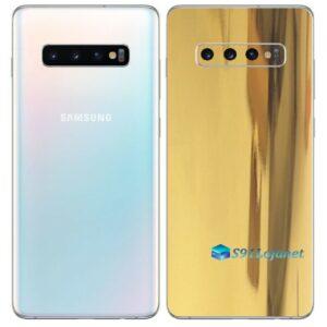 Galaxy S10 5G Adesivo Skin Película Tras Metal Ouro Gold