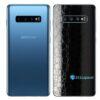 Galaxy S10 Adesivo Skin Película Traseiro FX Couro Negro