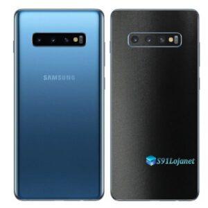 Galaxy S10 Adesivo Skin Película Traseiro FX Deep Black