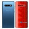 Galaxy S10 Adesivo Skin Película Traseiro FX Dimension Red