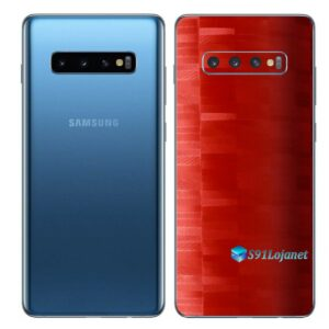 Galaxy S10+ Adesivo Skin Película Traseiro FX Pixel Vermelho