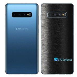 Galaxy S10+ Adesivo Skin Película Traseiro FX Preto Escovado