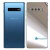 Galaxy S10 Adesivo Skin Película Traseiro Metal Cromo