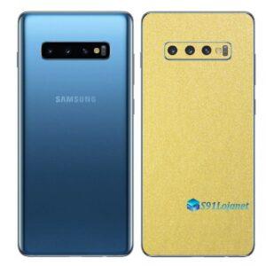 Galaxy S10+ Adesivo Skin Película Traseiro Metal Cromo