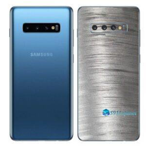 Galaxy S10 Adesivo Skin Película Traseiro Metal Escovado