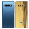 Galaxy S10+ Adesivo Skin Película Traseiro Metal Ouro Gold