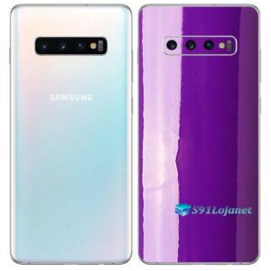 Galaxy S10 Plus Adesivo Skin Película Tras Cor Roxo