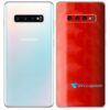 Galaxy S10 Plus Adesivo Skin Película Tras FX Dimension Red