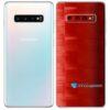 Galaxy S10 Plus Adesivo Skin Película Tras FX Pixel Vermelho