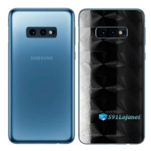 Galaxy S10e Adesivo Skin Película Tras FX Dimension Black Preto