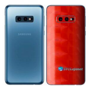 Galaxy S10e Adesivo Skin Película Tras FX Dimension Red