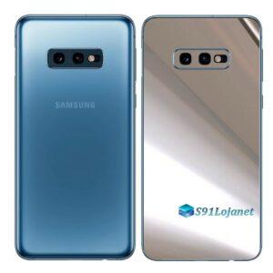 Galaxy S10e Adesivo Skin Película Tras Metal Cromo