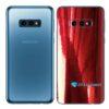 Galaxy S10e Adesivo Skin Película Tras Metal Gold Red
