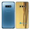 Galaxy S10e Adesivo Skin Película Tras Metal Ouro Gold