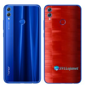 Huawei Honor 8x Adesivo Skin Película FX Pixel Vermelho