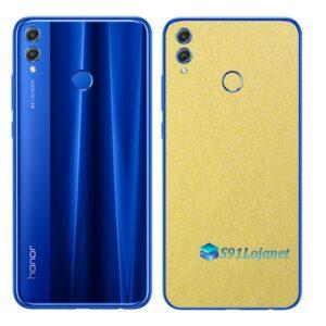 Huawei Honor 8x Adesivo Skin Película Metal Dourado