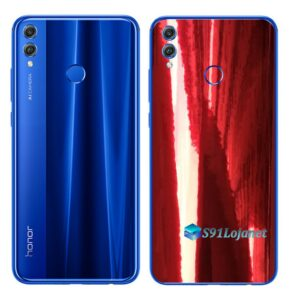 Huawei Honor 8x Adesivo Skin Película Metal Gold Red