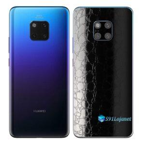 Huawei Mate 20 Pro Adesivo Skin Película FX Couro Negro