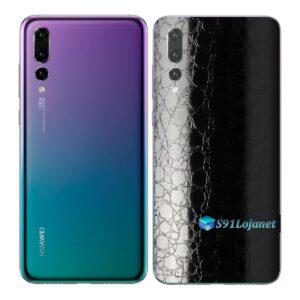 Huawei P20 PRO Adesivo Skin Película FX Couro Negro