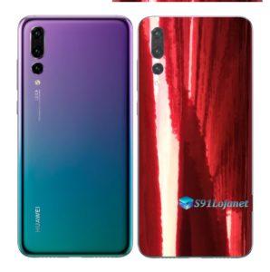 Huawei P20 PRO Adesivo Skin Película Metal Gold Red
