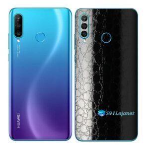 Huawei P30 Adesivo Skin Película Traseira FX Couro Negro