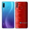 Huawei P30 Adesivo Skin Película Traseira FX Pixel Vermelho