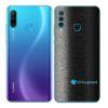 Huawei P30 Adesivo Skin Película Traseira FX Preto Escovado