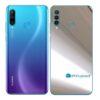 Huawei P30 Adesivo Skin Película Traseira Metal Cromo