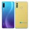 Huawei P30 Adesivo Skin Película Traseira Metal Dourado