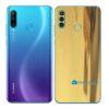 Huawei P30 Adesivo Skin Película Traseira Metal Ouro Gold