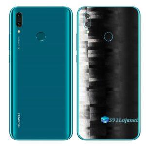 Huawei Y9 2019 Adesivo Película Traseira FX Pixel Black