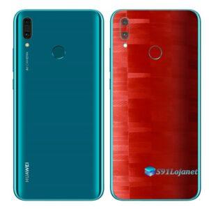 Huawei Y9 2019 Adesivo Película Traseira FX Pixel Vermelho