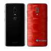 OnePlus 6 Adesivo Skin Película Traseira FX Pixel Vermelho