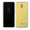 OnePlus 6 Adesivo Skin Película Traseira Metal Dourado