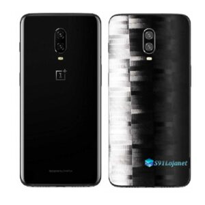 OnePlus 6T Adesivo Skin Película Traseira FX Pixel Black